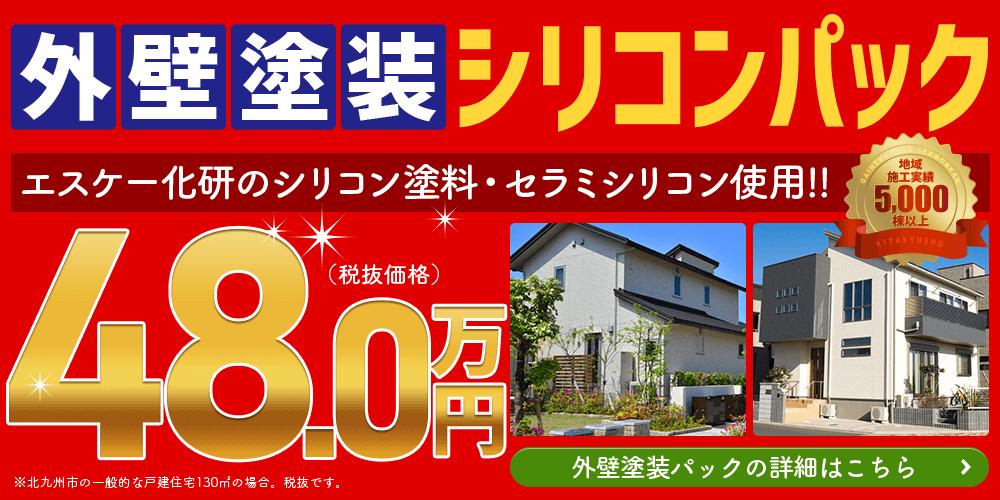 外壁塗装シリコンパック48.0万円