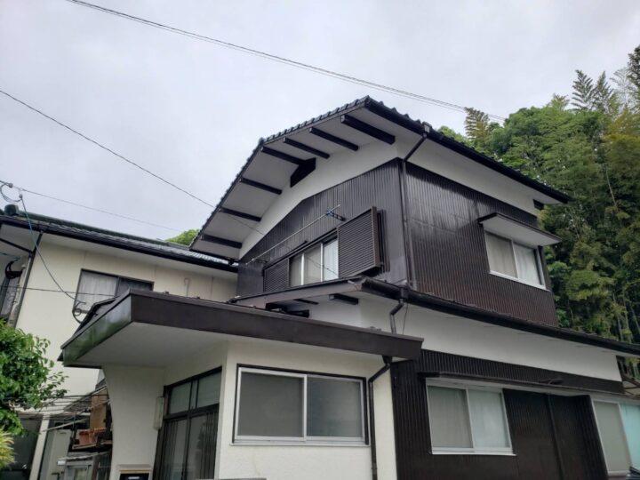 K様邸 屋根塗装工事 施工中写真