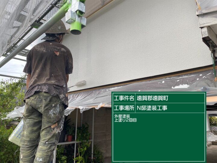 外壁上塗り2回目 (2)
