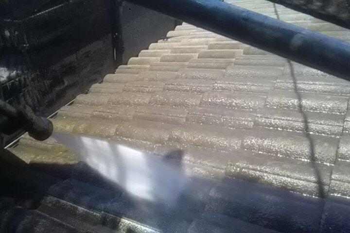 屋根洗浄 (2)