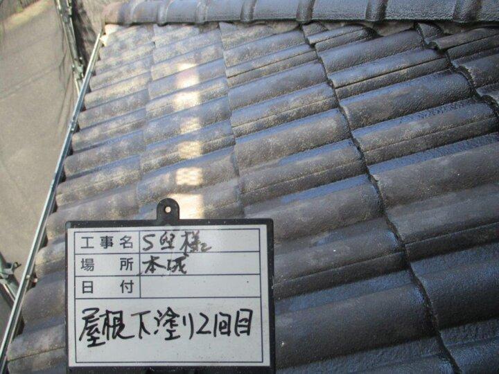 屋根下塗り2回目 (2)